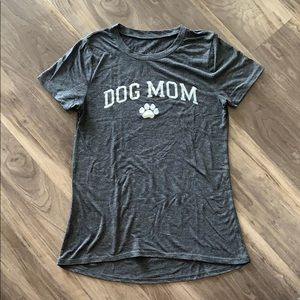 Modern Lux Dog Mom Graphic Tee Grey